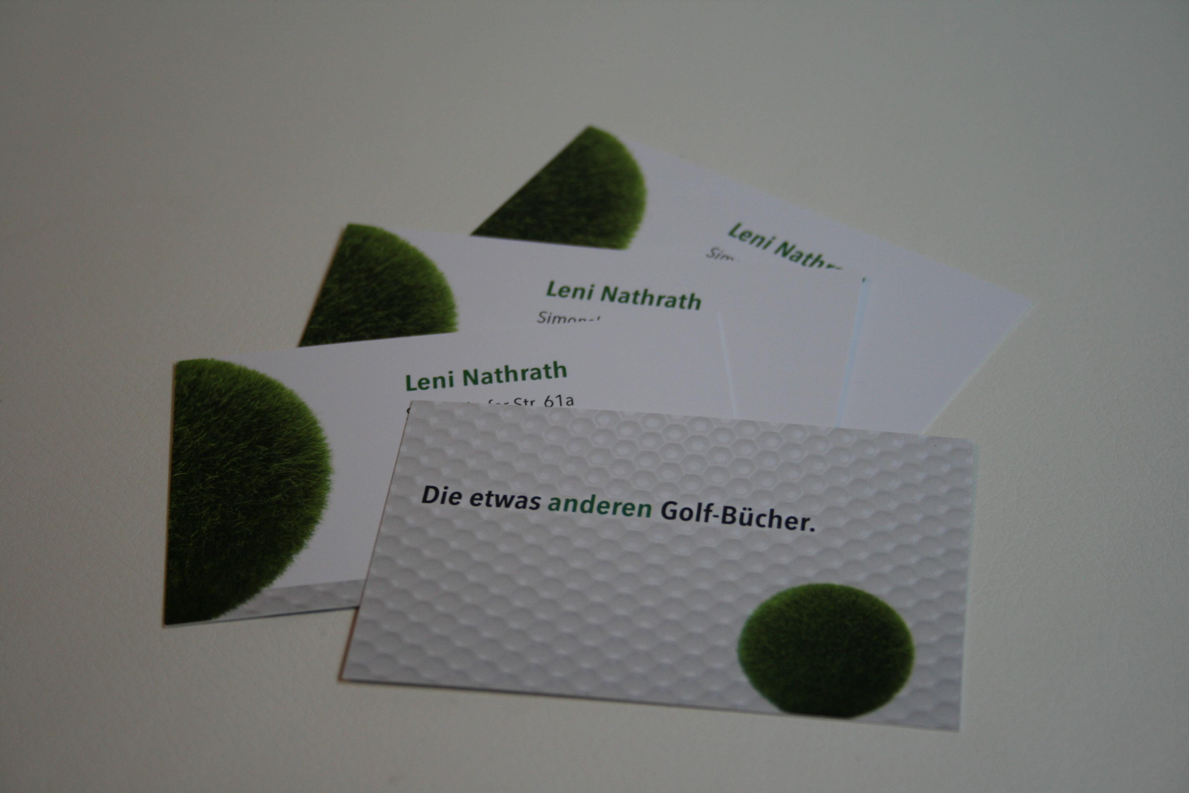 Autorinnen mit großer Golf-Leidenschaft: Visitenkarten