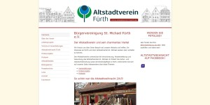 Neuer Internetauftritt: Das Texthaus konzipiert und realisiert den Relaunch des Altstadtvereins Fürth.