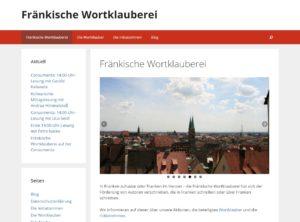 Die neue Website der Fränkischen Wortlauberei