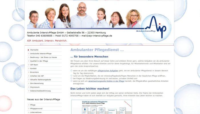 Neue Website des Intensivpflegedienstes