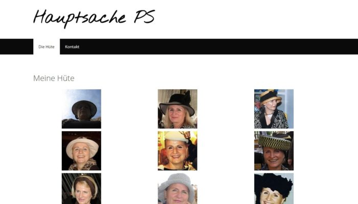 Screenshot der Website Hauptsache PS