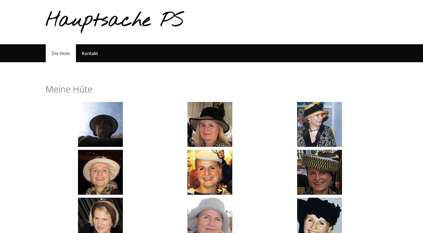 Screenshot der Website Hauptsache PS