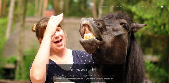 Modern, ausbaufähig, günstig und flexibel: Website für Schwester Huf