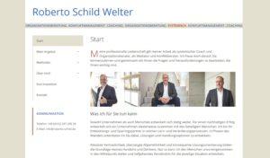 Stilvolle Klarheit und eine exzellente Struktur zeichnen die Website unseres Kunden Roberto Schild aus.