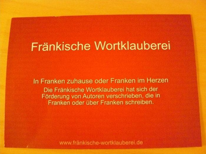 Flyer im Postkartenformat zu den Fränkischen Wortklaubern - Vorderseite
