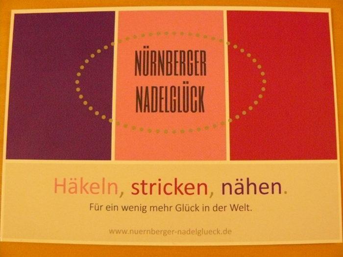 Flyer im Postkartenformat zum Nürnberger Nadelglück
