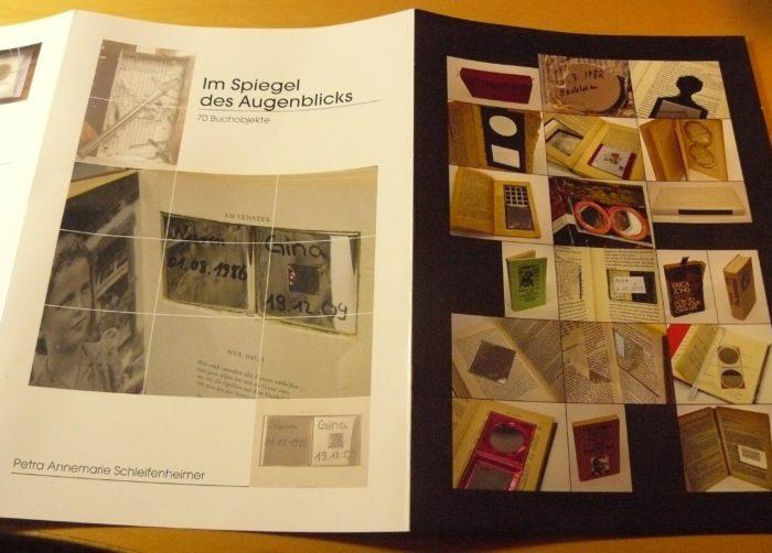 Aufwändig gestalteter Folder zu einem künstlerischen Projekt - Vorderansicht
