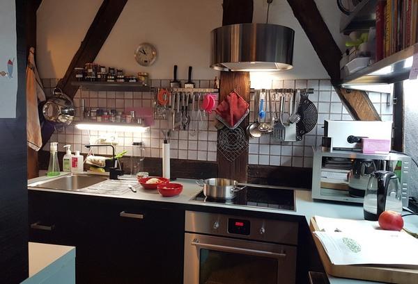 Küchenfoto, weil es noch kein Bild der veganen Linsensuppe gibt.