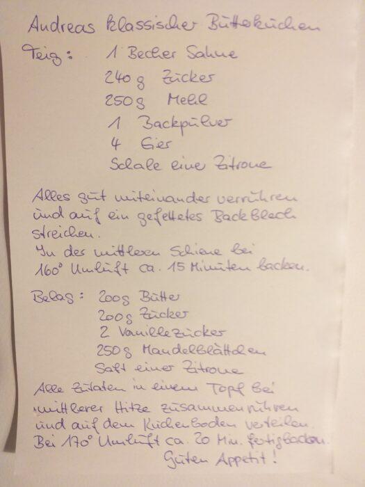 Andreas Butterkuchen-Rezept