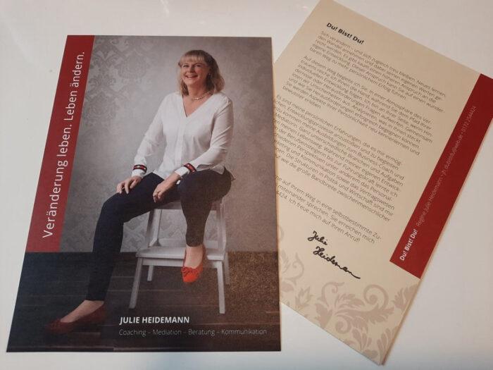Werbe-Flyer für unsere Kundin Julie Heidemann